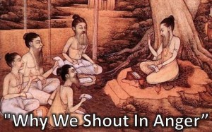 Why we shout in anger