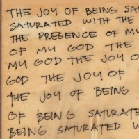 The Joy of being saturated with the presence of my God